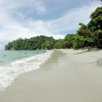 The beach at Manuel Antonio National Park.
