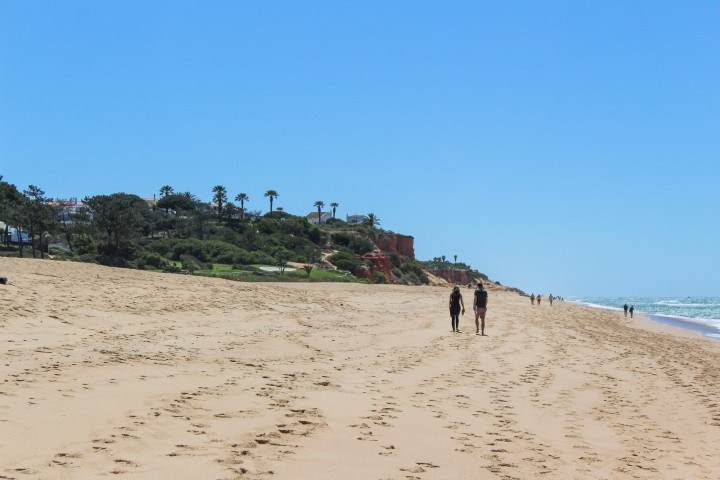 Walking along the beach at Trafal, Algarve, Portugal