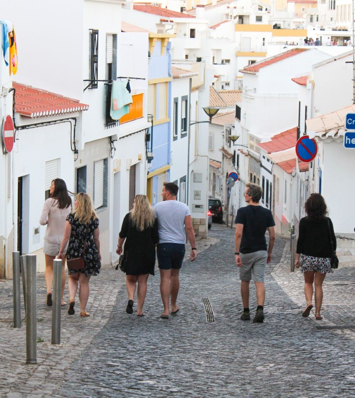 Heading into the old town, Lagos, Portugal