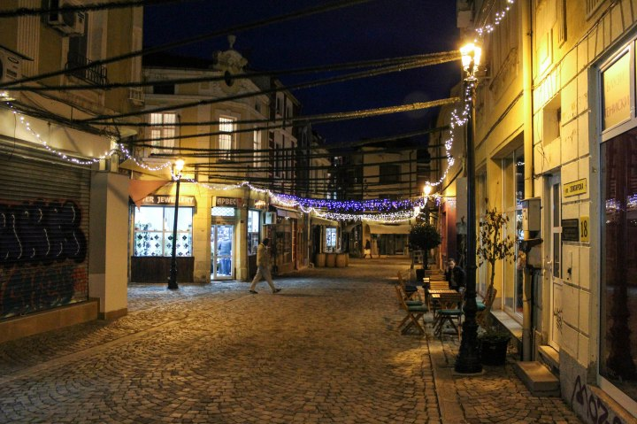 Night in Kapana, Plovdiv, Bulgaria