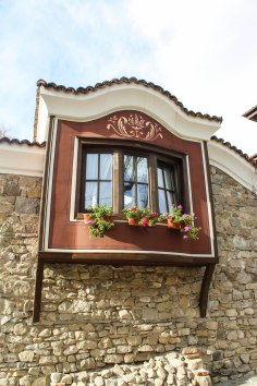 A window box in the Old Town, Plovdiv