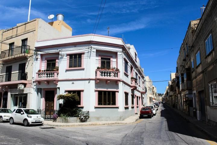 A typical Maltese house in Balzan, Valletta, Malta