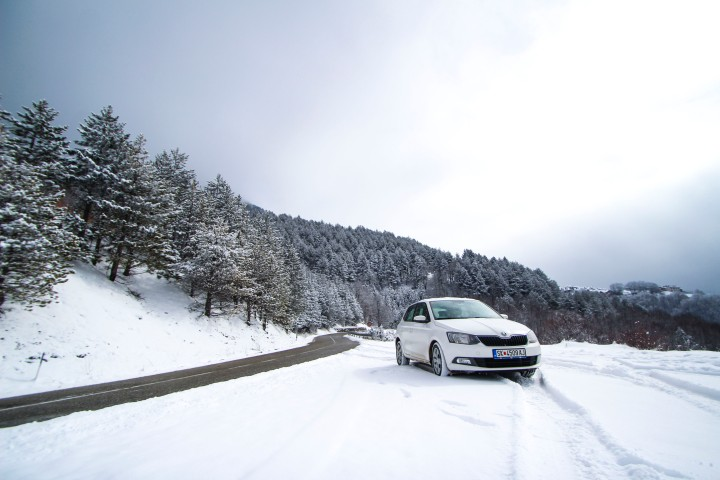 Snow on the way to Prizren, Kosovo