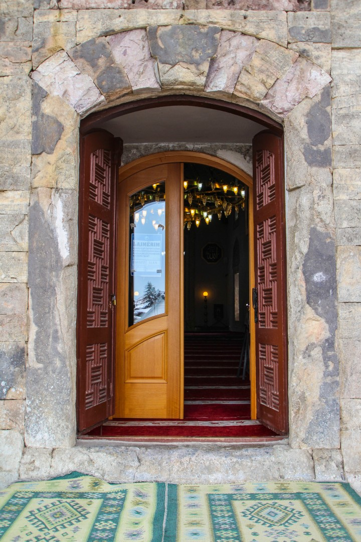 The doorway to Sinan Pasha Mosque, Prizren, Kosovo