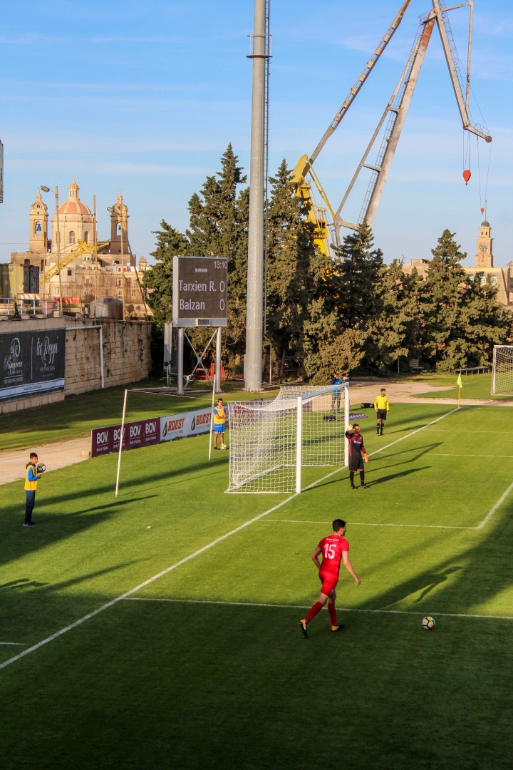 The mighty Balzan play at the Hibernians Stadium, Malta