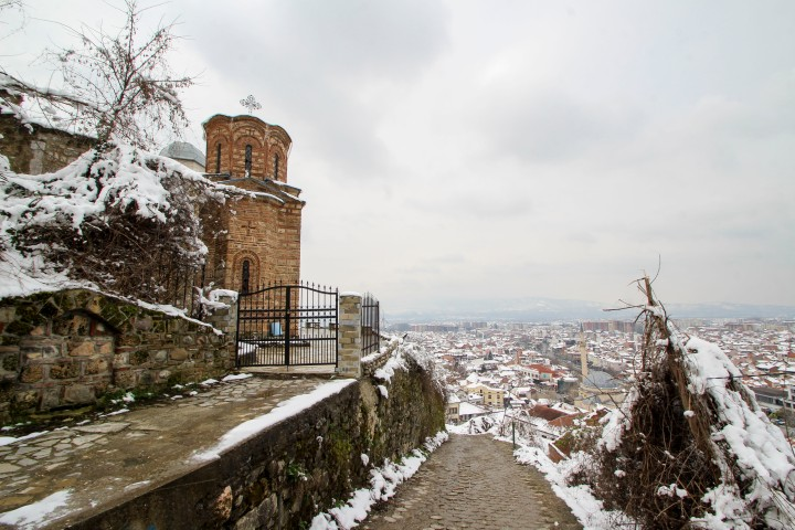 The view from the hill down to Prizren, Kosovo