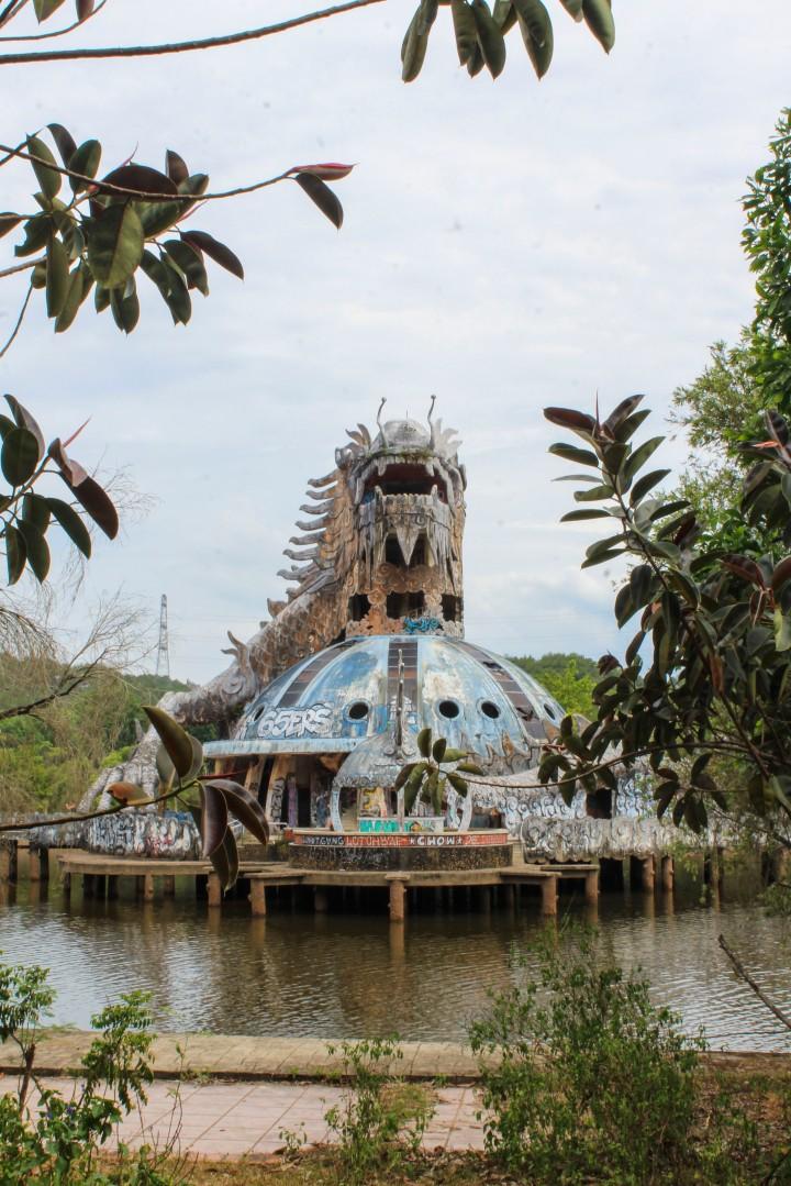 Abandoned water park near Hue, Vietnam