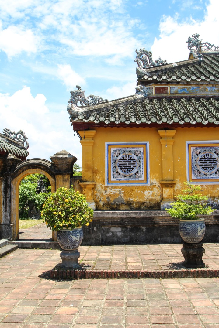 House in the Imperial Citadel, Hue, Vietnam