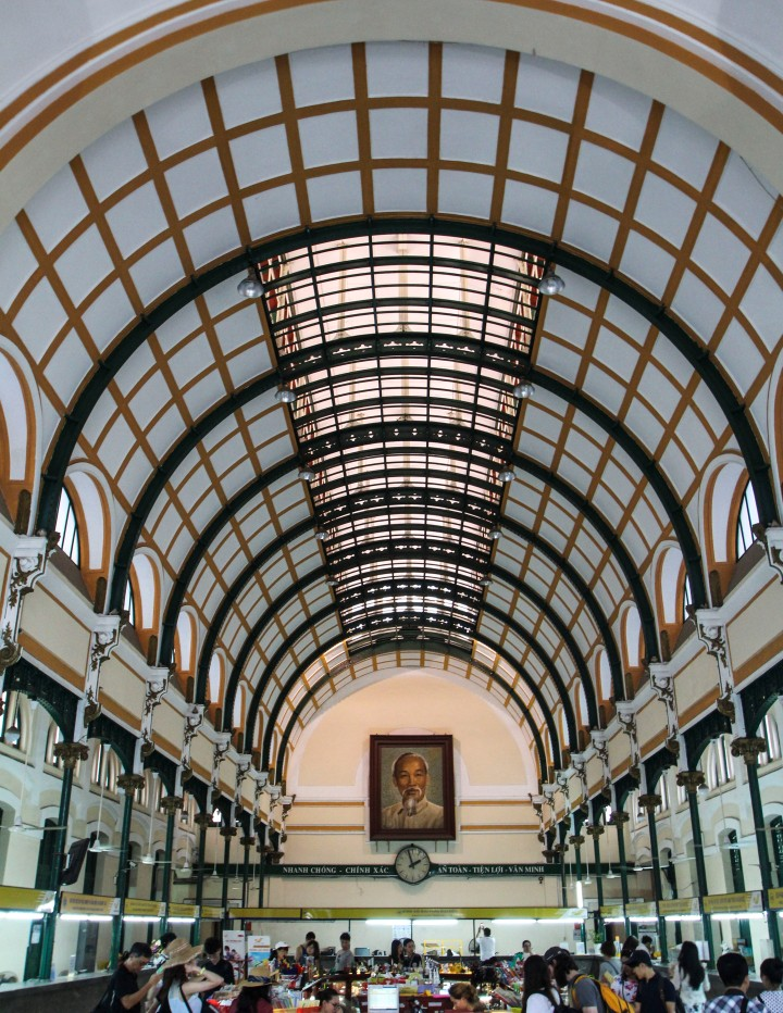 Inside the post office, Ho Chi Minh, Vietnam