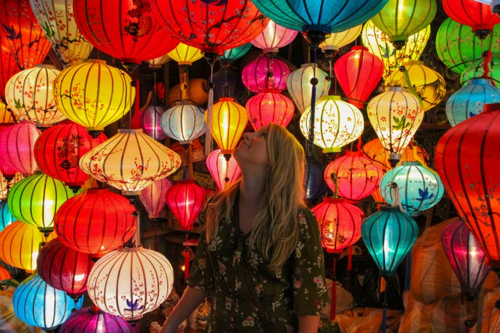 Nicola and Lanterns, Hoi An, Vietnam