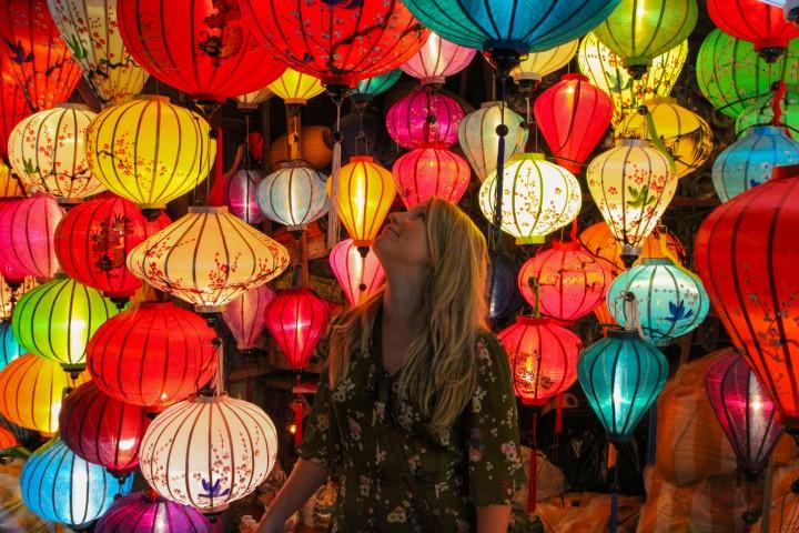 Nicola and Lanterns, Hoi An, Vietnam