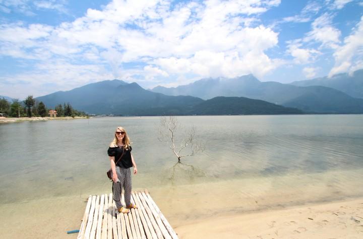 Nicola at Lang Co Lagoon, Vietnam