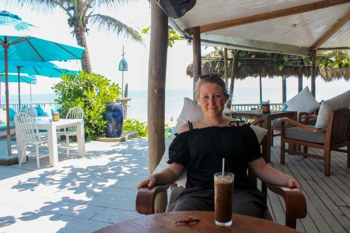Relaxing at An Bang Beach, Hoi An, Vietnam
