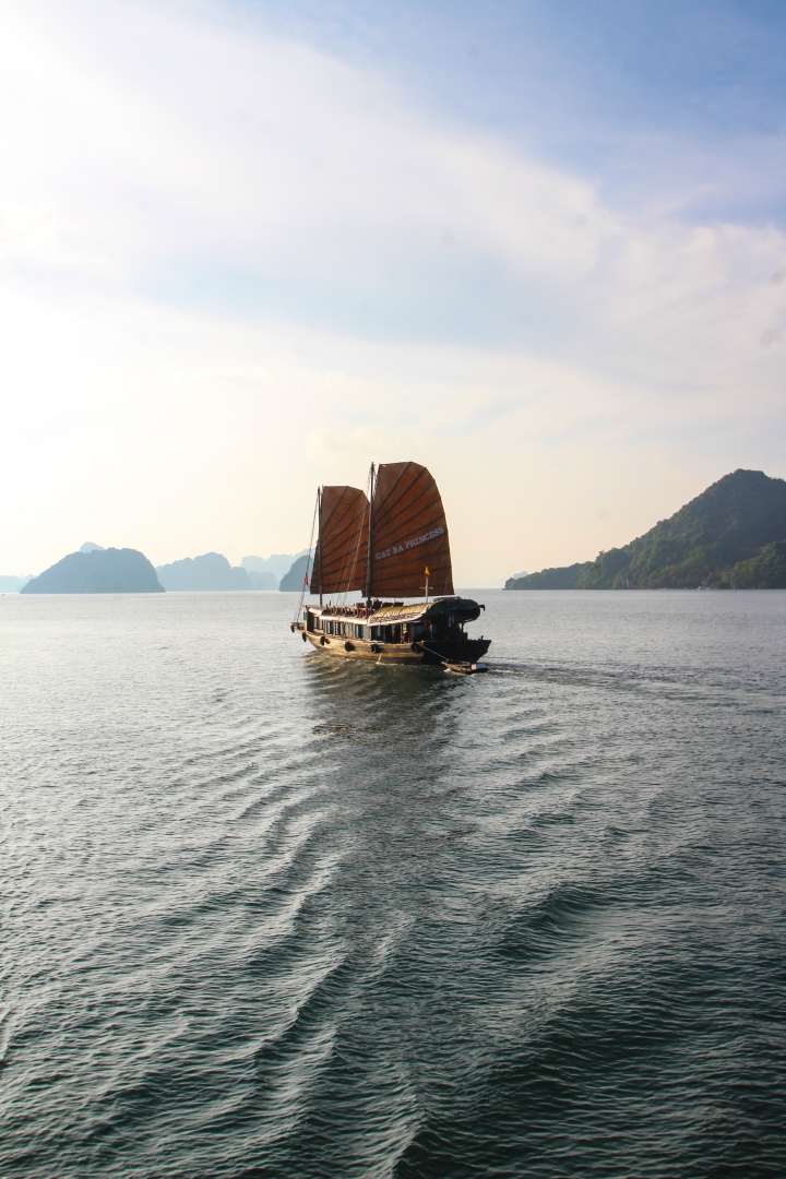 Sailboat in Ha Long Bay, Vietnam