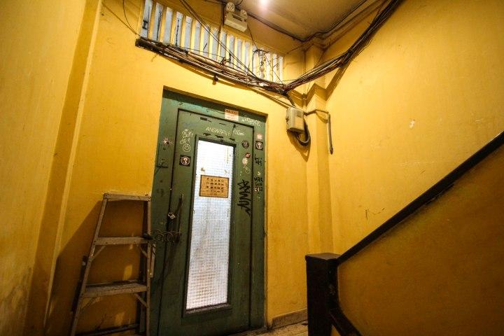 Stairwell on the way to Secret Garden restaurant, Ho Chi Minh, Vietnam