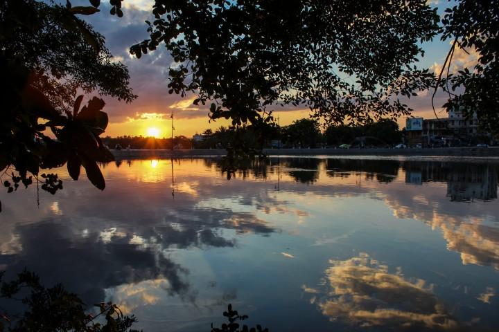 Sunset on the Perfume River, Hue, Vietnam