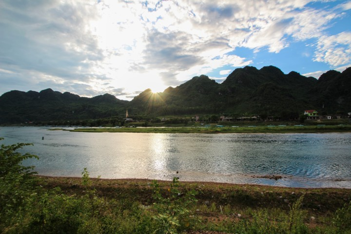 The view from our Homestay in Phong Nha, Vietnam