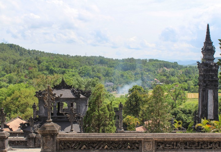 View from the Tomb of Khai Dinh, Hue, Vietnam
