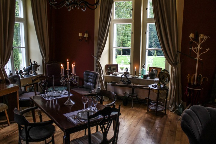 The beautoufl dining room at Zabola Estate, Romania