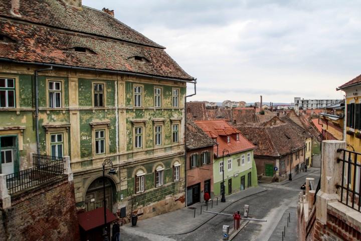The old town of Sibiu, Romania