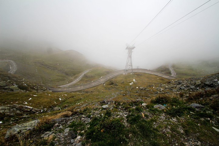 View from the top of the Transfagarasan, Romania