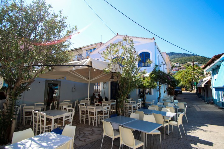 A restaurant in Vathy, Ithaca, Greece
