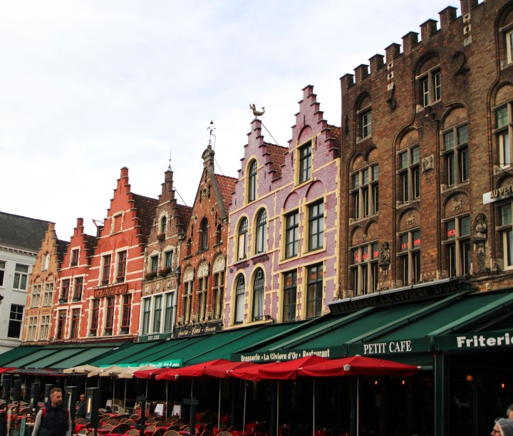 Houses in Markt, Bruges, Belgium