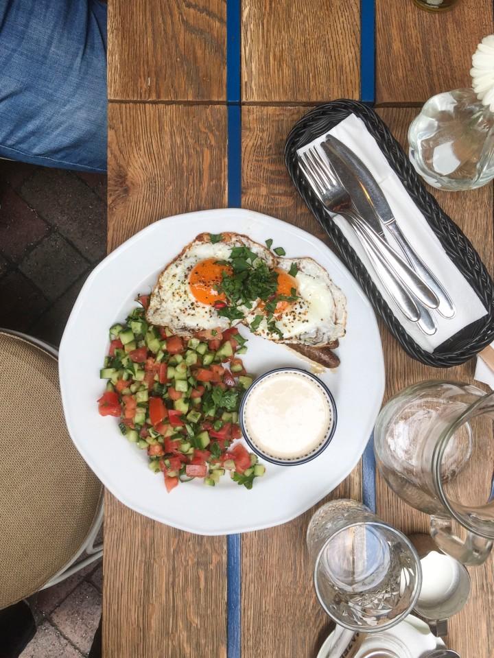 Breakfast at Mazel Tov, Budapest, Hungary
