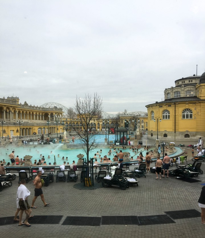 The Széchenyi Baths, Budapest, Hungary
