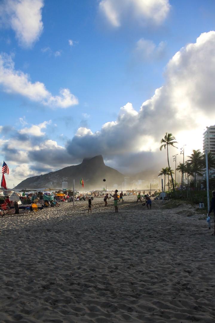 A bank holiday on Ipanema Beach, Rio de Janeiro, Brazil