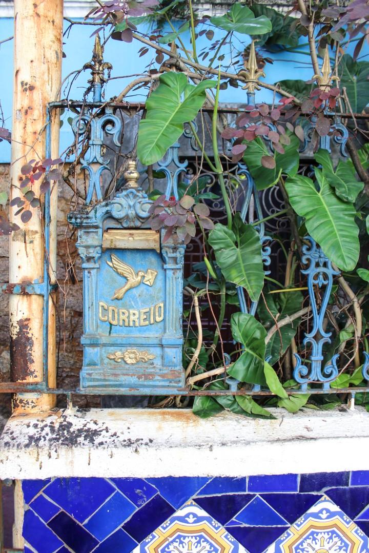A post box in Santa Teresa, Rio de Janeiro, Brazil