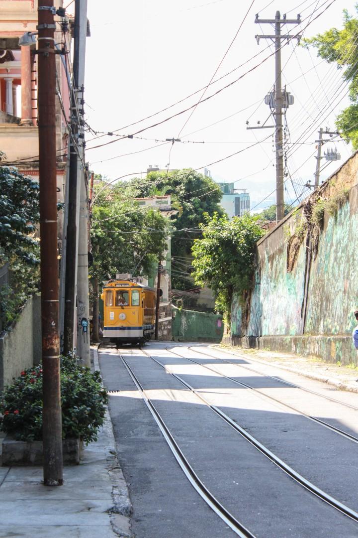 A tram in Santa Teresa, Rio de Janeiro, Brazil