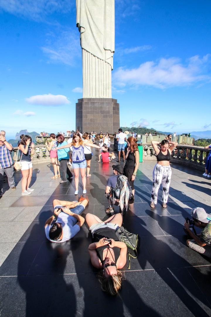 Idiots at Cristo Rentedor, Corcovado Mountain, Rio de Janeiro, Brazil