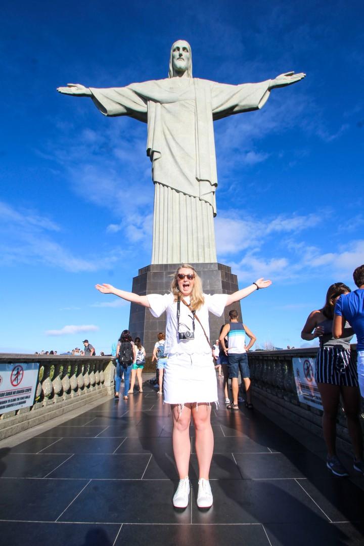 Nicola and Jesus at Cristo Rentedor, Corcovado Mountain, Rio de Janeiro, Brazil