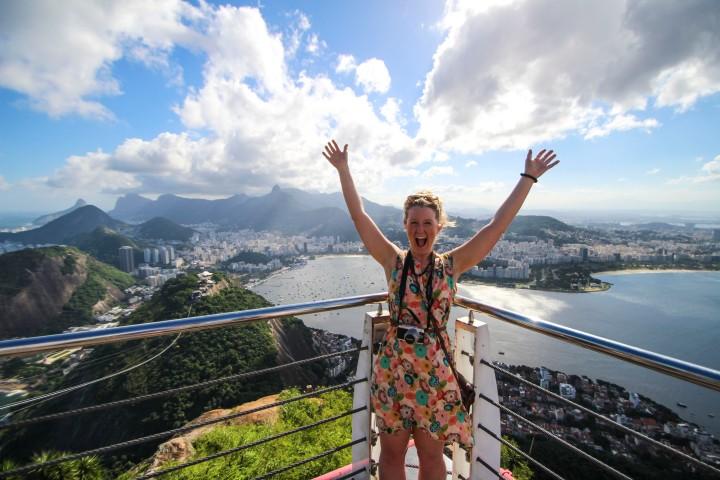 Nicola looking over Rio de Janeiro, Brazil