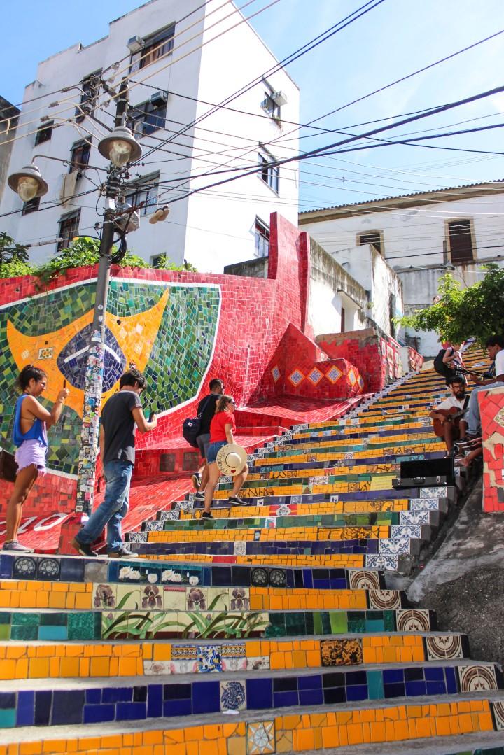 The Escadaria Selarón, Lapa, Rio de Janeiro, Brazil