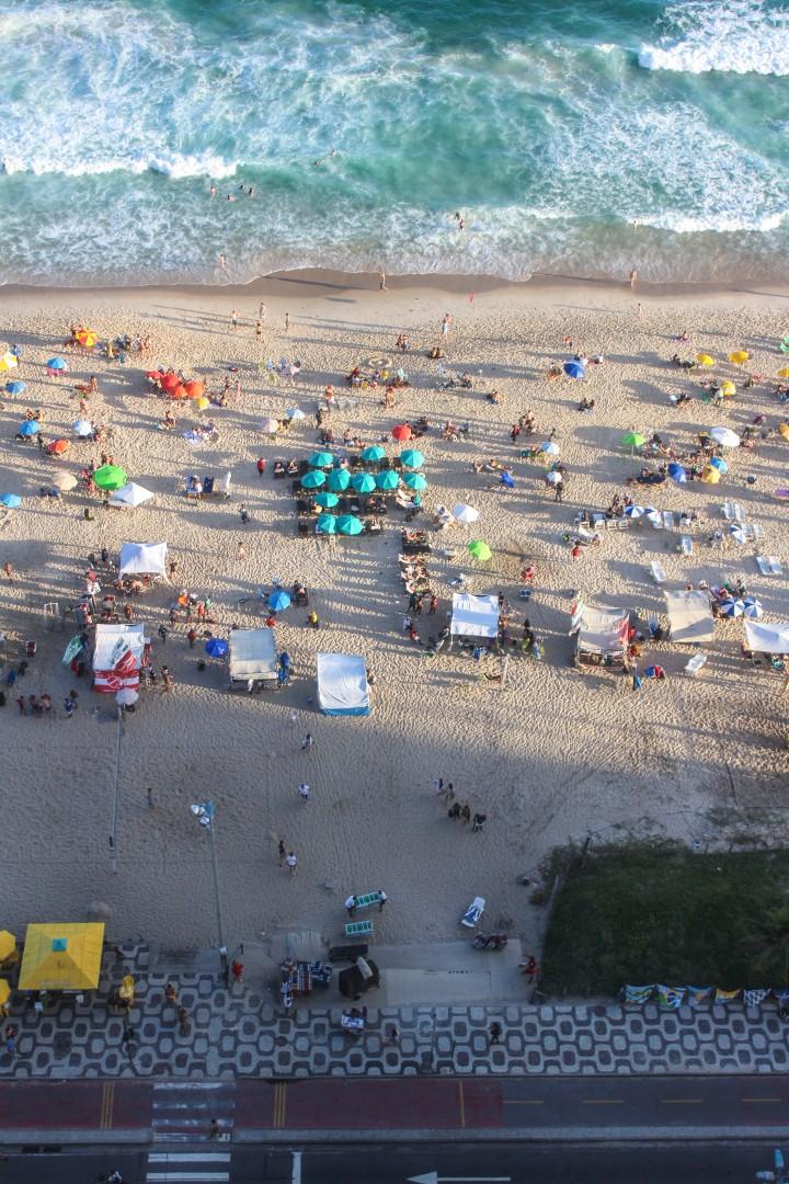 The view onto Ipanema Beach, Rio de Janeiro, Brazil