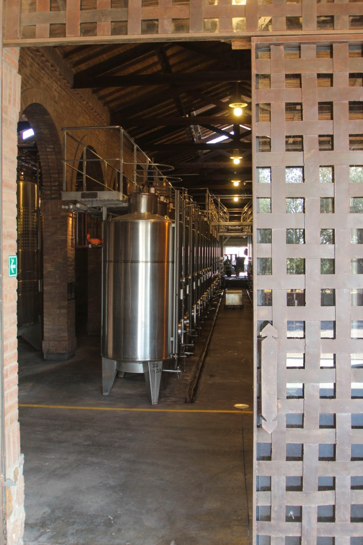 Fermentation vats at Altavista Winery, Mendoza, Argentina