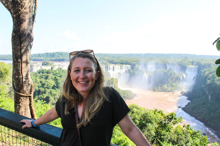 Nicola by the Iguacu Falls, Foz do Iguaçu, Brazil
