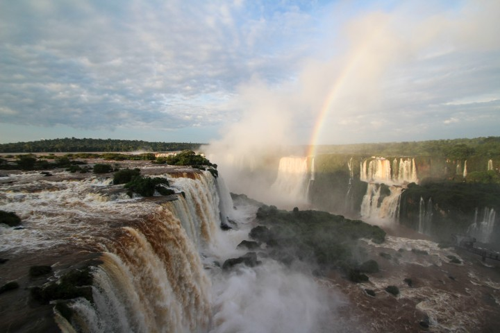 Rainbow over the falls, Foz do Iguaçu, Brazil