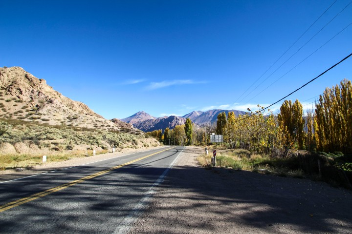 The road to Chile, Mendoza, Argentina