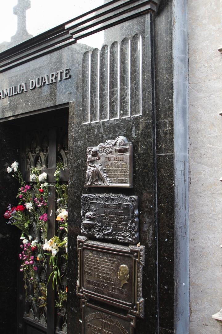 Evita's grave, La Recoleta Cemetery, Buenos Aires, Argentina