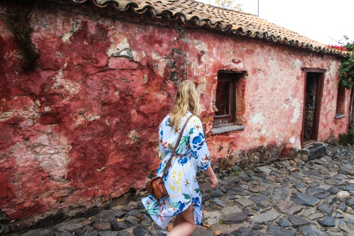 Nicola waking more in Colonia del Sacramento, Uruguay