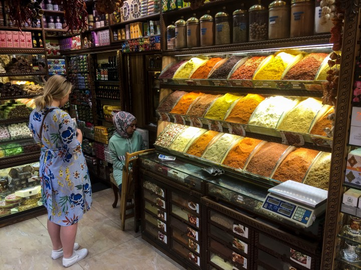 Nicola in the Spice market, Istanbul, Turkey