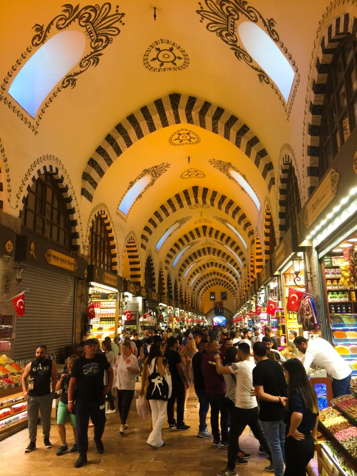 The Spice Market in Istanbul, Turkey