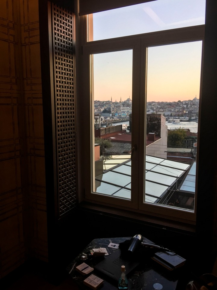 The view from Hotel Galata, Istanbul, Turkey