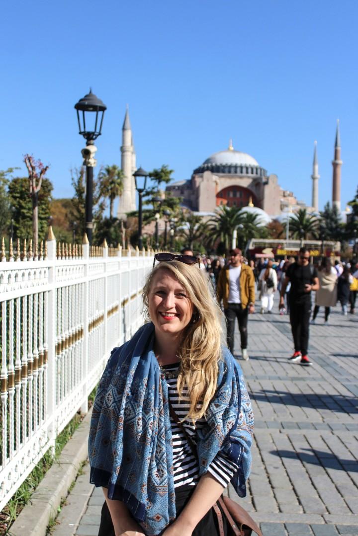Nicola outside Hagia Sophia, Istanbul, Turkey