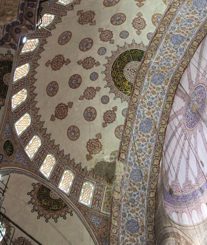The roof of the Blue Mosque, Istanbul, Turkey